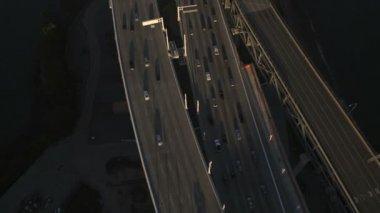 New Bay Bridge old Bay Bridge San Francisco — Vídeo de Stock