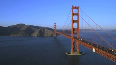 Golden gate brug san francisco — Stockvideo