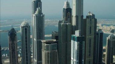 Dubai Skyline Palm Jumeirah Island — Stockvideo