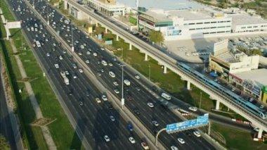 Dubai Metro Rail Sheikh Zayed Road — Stock Video