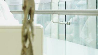 Arabic business people in Dubai modern office — Stock Video