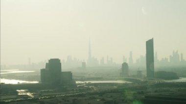 Antena ciudad Dubai rascacielos — Vídeo de Stock