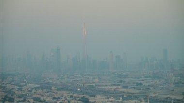 Aerial Dubai City sunset — Stok video