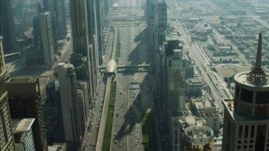 Dubai Skyscrapers Sheikh Zayed Road — Stock Video