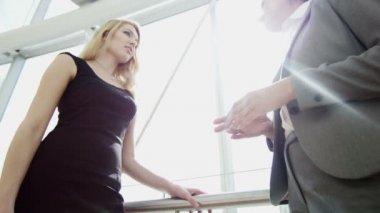 Business women meeting in Dubai office building — Stock Video