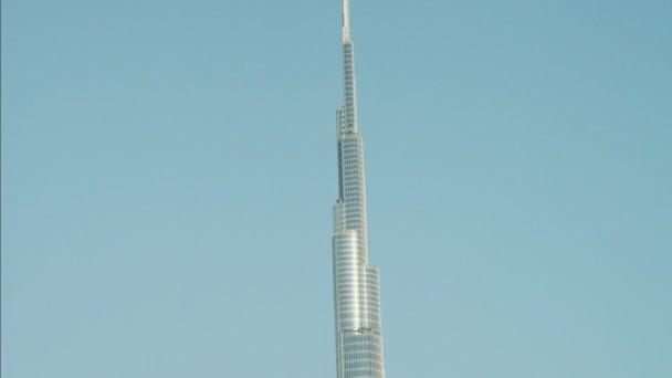 Aerial Dubai Burj Khalifa Skyscraper — Vídeo de stock
