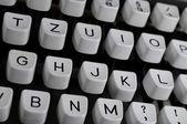 打字机键 — 图库照片