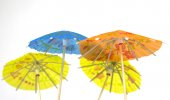 Little paper parasols — Stock Photo