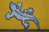 Ornamented facade with salamander — Stockfoto