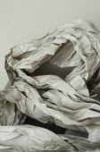 Screwed brown paper — Stock Photo