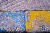Color curbstone close up — Stock Photo