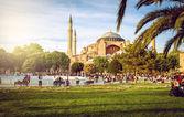 Hagia Sophia and people around — Stock Photo