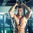 Triceps overhead extension rope — Stock Photo #77137671