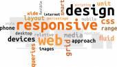 Word cloud - responsive web design — Stock Vector