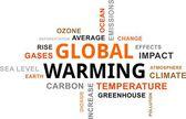 Word cloud - global warming — Stock Vector