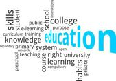 Word cloud - education — Stock Vector