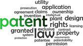 Word cloud - patent — Stock Vector