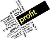 Word cloud - profit — Wektor stockowy