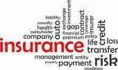 Word cloud - insurance — Stock Vector
