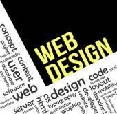 Word cloud - web design — Stock Vector