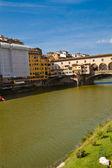 View of Ponte Vecchio and River Arno — Stock Photo