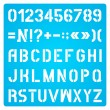 Stencil Letters And Numbers — Stock Vector #54180839