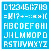 Stencil Letters And Numbers — Stock vektor