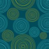 Blue Colored Circles Seamless Pattern — Vector de stock