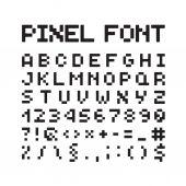 圆的像素字体,孤立的向量字母,字母 — 图库矢量图片