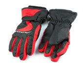 Ski black and red gloves — Stock Photo