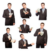Man with money set — Stock Photo