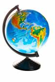 Terrestrial globe isolated — Stock Photo