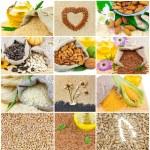 Sesame, sunflower, pumpkin, flax seeds — Stock Photo #72320167