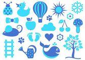детские значки — Cтоковый вектор