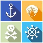 Marine icons — Stock Vector