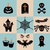 ícones de halloween — Vetor de Stock