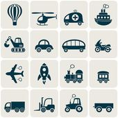 Transport icons  — Stock Vector