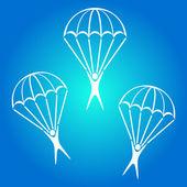Parachute jumper icon — Stock Vector