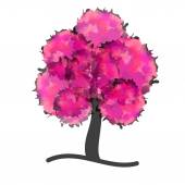 Rosa träd — Stockvektor