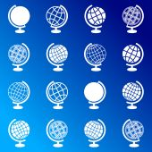 Globus-symbole — Stockvektor