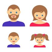 Family member vector icons — Stock Vector
