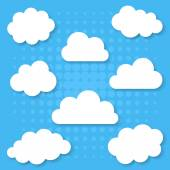 White clouds collection — Stock Vector