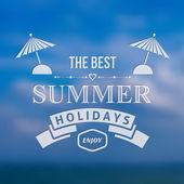 Tło wakacje lato — Wektor stockowy