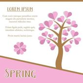 Spring season card — Stock Vector