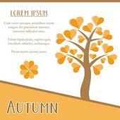 Autumn season card — Stock Vector