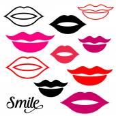 Woman lips — Vetor de Stock
