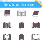 Book icons collection  — Stock Vector