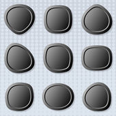 Web pulsanti rotondi — Vettoriale Stock