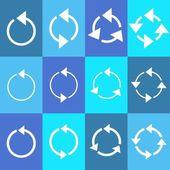 Rotating circle arrows — Stock Vector