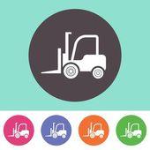 Wózek widłowy ciężarówka ikona — Wektor stockowy